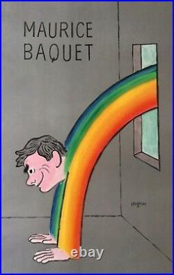 Raymond SAVIGNAC Maurice Baquet Affiche originale imp. En lithographie (pub)