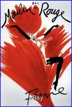René Gruau Bal Du Moulin Rouge Feerie Deux Feuilles 202x148 CM Affiche Entoilee