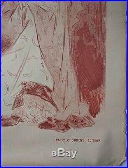 René Péan Affiche original Mlle George Atelier Chèret Vers 1900