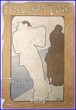 Rixens Affiche Ancienne Fete De Charite Bal Des Etudiants De Toulouse 1902