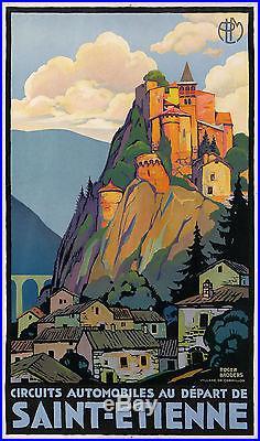 Roger Broders Affiche Ancienne Plm Saint Etienne Village De Cornillon CI 1925