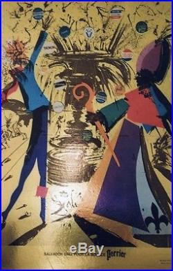SALVADOR DALI POUR LA SOURCE PERRIER Affiche originale cartonnée 1969 36x54cm