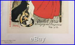 STEINLEN Lait pur de la vingeanne Affiche Litho originale Quillot frères