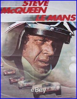 STEVE Mc QUEEN. FILM LE MANS. 1 X AFFICHE. FORMAT 79 X 58,5 CM