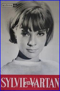 SYLVIE VARTAN / RCA VICTOR Affiche originale entoilée Photo SOUSSE OHANA 1963