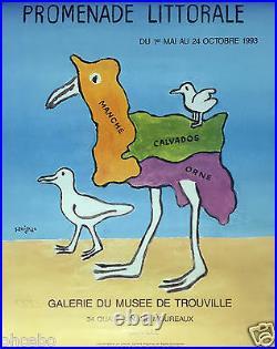 Savignac Exceptionnelle Affiche Du Maitre Moderne De La Publicite -trouville