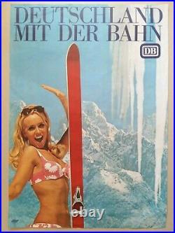 Ski sports d'hiver Lot de 13 affiches anciennes/original winter skiing posters