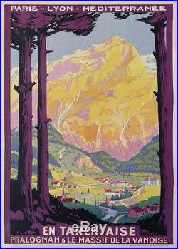 Soubie En Tarentaise Pralognan Le Massif De La Vanoise Train Chemin De Fer Plm