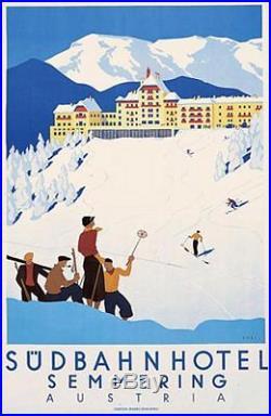 Sudbahn Hotel par Kosel C1930 Austria Alpes Ski Semmering