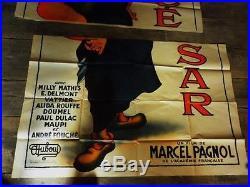 Superbe affiche ancienne César de Dubout trilogie Pagnol imp monégasque 120X160