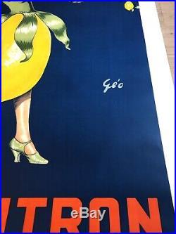 Superbe affiche ancienne SPA CITRON signée Géo