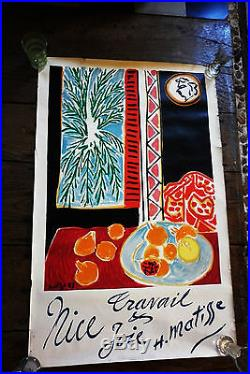 Superbe affiche de 1947 Henri Matisse rare et magnifique