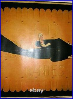 TABLEAU AFFICHE ANCIENNE BISCUIT LU NANTES (dernière édition 1943)