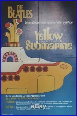 THE BEATLES YELLOW SUBMARINE Songtrack Affiche originale entoilée 44x65cm