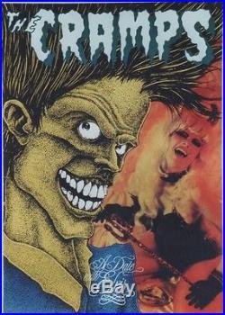 THE CRAMPS / A DATE WITH ELVIS Affiche originale entoilée 1986 64x89cm
