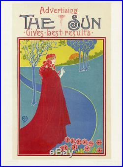 THE SUN Litho Maîtres de l'Affiche entoilée Pl. 8 Louis J. RHEAD 1894