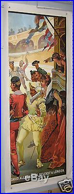 TRES GRANDE AFFICHE ANCIENNE OPÉRA CARMEN ACTE III LA CORRIDA CIRCA 1890 1900