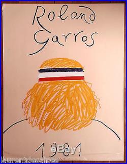 Tennis Roland Garros 1981 (Bjorn Borg) Affiche/poster original Arroyo