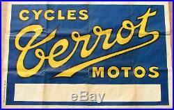 Terrot. 1 X Affiche. 1928. Format 120 X 80 Cm. Envoi Pliee. Etat D'usage