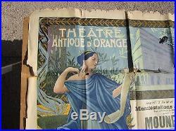 Théâtre antique D'ORANGE chorégie des 3-4 aout 1912 affiche signé Dellepiane