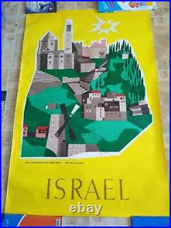 Travel original poster Israël /Jean David /affiche Originale Ancienne