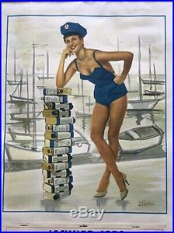 Tres Jolie Calendrier De Garage Pin IGOL De 1959 Complet