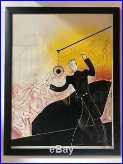 Tres Rare Ancienne Affiche Jazz 1920 1930 Old Poster Art Deco Old Prints