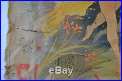 Très belle affiche Folies bergère, fleur de lotus par chéret