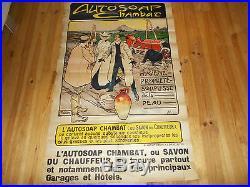 Très belle affiche ancienne publicitaire Autosoap Chambac RARE