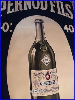 Trés rare affiche originale lithographiée année 1931 pour Anis PERNOD 40°