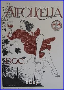 VALPOLICELLA D. O. C. Affiche originale italienne entoilée Milo MANARA 2006