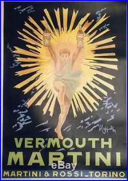 VERMOUTH MARTINI Affiche entoilée typo vers 1960 73x102cm (CAPPIELLO)