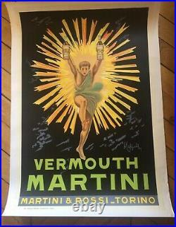 VERMOUTH MARTINI Affiche originale entoilée typo vers 1960 73x103cm