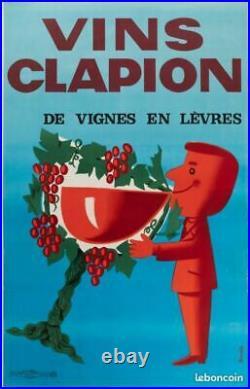 VINS CLAPION / Dans l'esprit de SAVIGNAC / ANNEES 1960 / Superbe