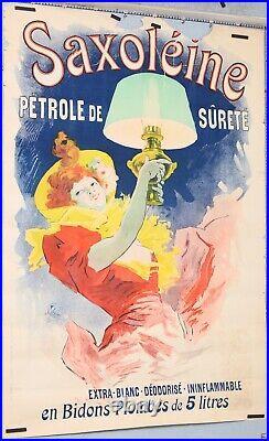 VINTAGE POSTER AFFICHE ANCIENNE CHERET SAXOLEINE PETROLE DE SURETE circa 1896