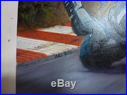 VINTAGE maquette originale affiche 24 H DU MANS YAMAHA GITANE. Signé THOS YVES