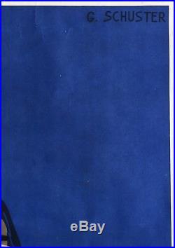 VISITEZ LALGÉRIE Affiche lithographiée orientaliste /G. Schuster /Orientalisme
