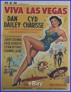 VIVA LAS VEGAS (MEET ME IN LAS VEGAS)Affiche entoilée Roy ROWLAND, Cyd CHARISSE