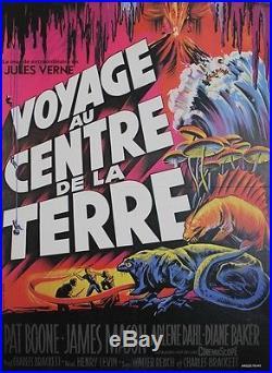 VOYAGE AU CENTRE DE LA TERRE/ JOURNEY TO CENTER OF THE EARTH Affiche entoilée