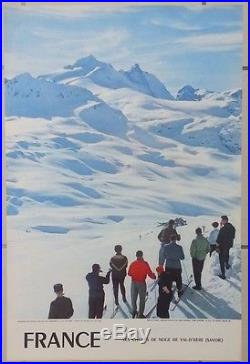 Val d'Isère Tignes 5 affiches anciennes/skiing travel original posters 1955-63