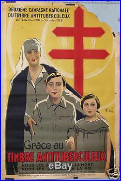 Vila Affiche Ancienne Campagne Anti Tuberculose Achetez Le Timbre 1928-29
