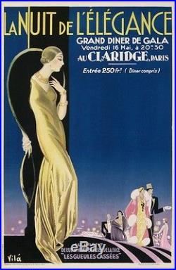 Vila Emilio La Nuit De L Elegance 1927 Grand Gala Au Claridge Paris