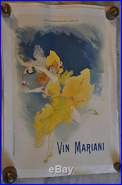 Vin Mariani 1895 par Chéret Imprimerie Chaix