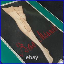 Vintage Calendrier Perpetuel Publicitaire Bas Couture Minuit Lingerie Mercerie