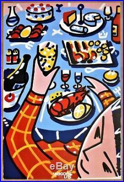 WAGONS LITS 1988 François BOISROND Affiche 90 x 60 cm, Originale
