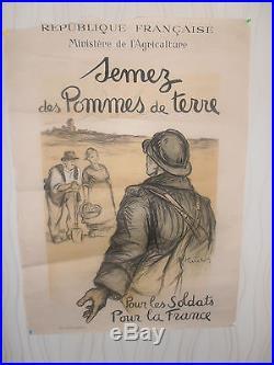 WW 1 affiche Semez des pommes de terre Hauton guerre 1914 / 1918 (ref B1)