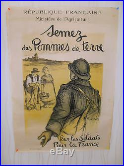 WW 1 affiche Semez des pommes de terre Hauton guerre 1914 / 1918 (ref a3)
