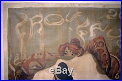 Weiluc (1873-1947), Rare Affiche Originale Le Frou-frou, 1900, Lithographiee